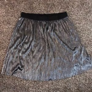 Lane Bryant Silver Pleated Skirt size 22/24 NWT